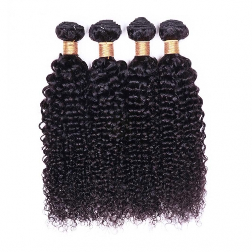 Evova Brazilian Hair Weave 4 Bundles Jerry Curly Thick Human Hair