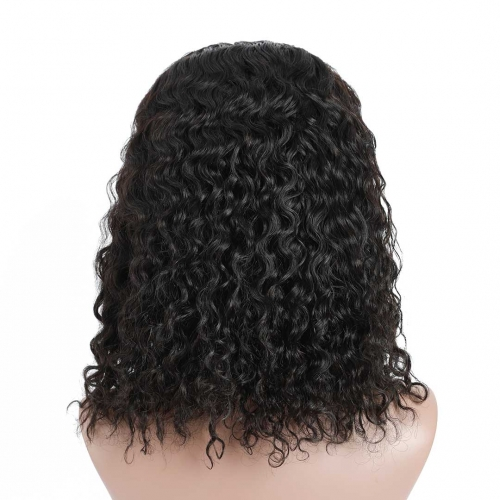 HAIRCC Affordable 13x4 13x6 Lace Front Wigs Water Wave Human Hair Bob Wigs