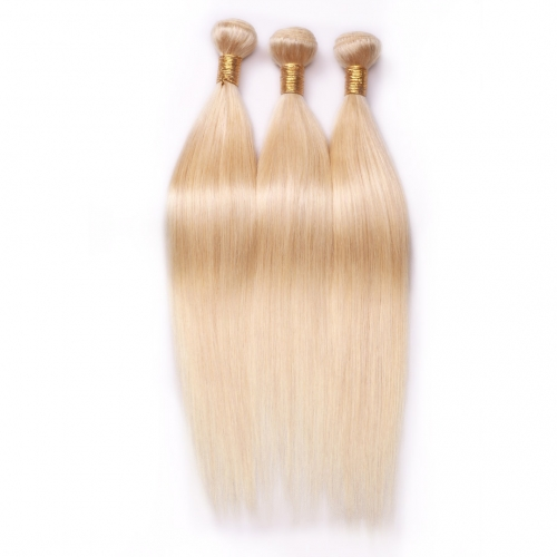 613 Blonde Human Hair Weave 3 Bundles Straight HAIRCC Remy Hair Great Quality