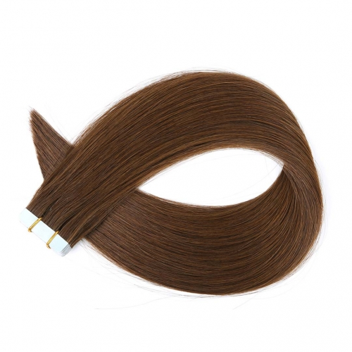 Tape In Extensions Dark Brown #4 Virgin Remy Human Hair 20pcs EBBA Hair