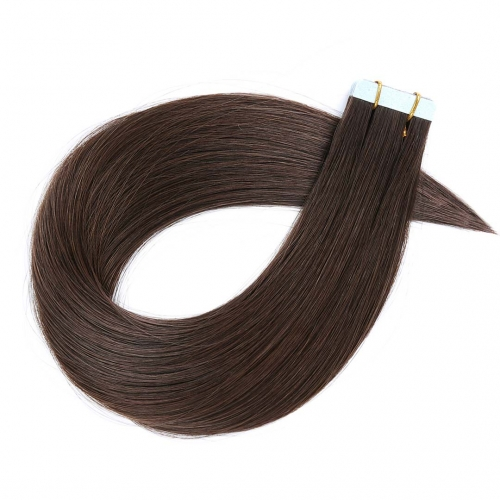 Tape In Extensions Darkest Brown #2 Virgin Remy Human Hair 20pcs EBBA Hair