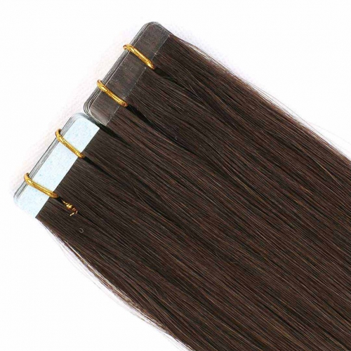 Remy Human Hair Tape In Extensions Darkest Brown #2 20pcs HAIRCC Hair