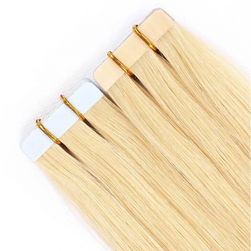 Remy Human Hair Tape In Extensions Bleach Blonde #613 20pcs HAIRCC Hair