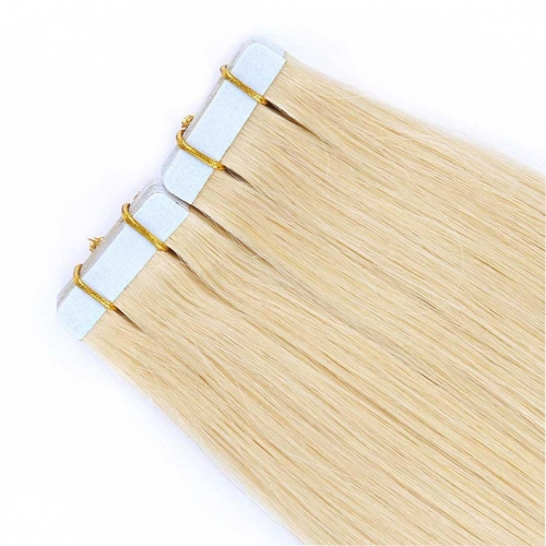 Remy Human Hair Tape In Extensions Medium Blonde #22 20pcs HAIRCC Hair