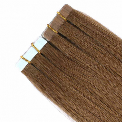 Remy Human Hair Tape In Extensions Medium Brown #6 20pcs HAIRCC Hair