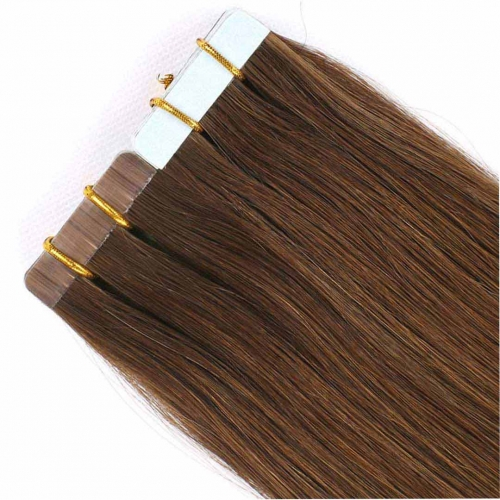 Remy Human Hair Tape In Extensions Dark Brown #4 20pcs HAIRCC Hair