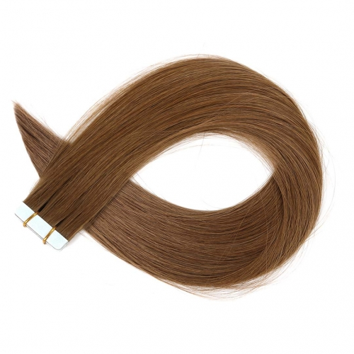 Tape In Extensions Medium Brown #6 Virgin Remy Human Hair 20pcs EBBA Hair