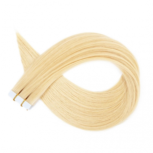 Tape In Extensions Bleach Blonde #613 Virgin Remy Human Hair 20pcs EBBA Hair