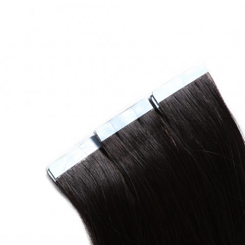 Tape In Extensions Natural Black #1b Virgin Remy Human Hair 20pcs EBBA Hair