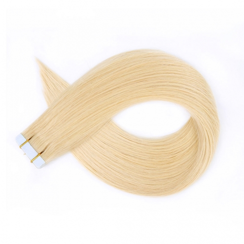 Tape In Extensions Medium Blonde #22 Virgin Remy Human Hair 20pcs EBBA Hair