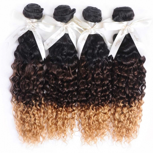 Cheap Ombre Curly Hair Weave 4 Bundles Good Quality HAIRCC Remy Hair