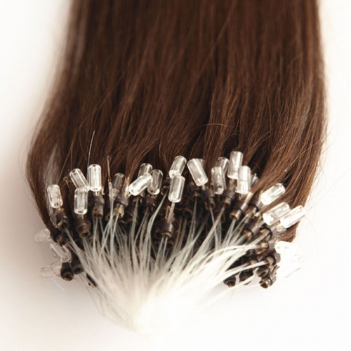 Darkest Brown #2 Micro Loop Ring Hair Extensions 100 Strands HAIRCC Remy Human Hair Extensions