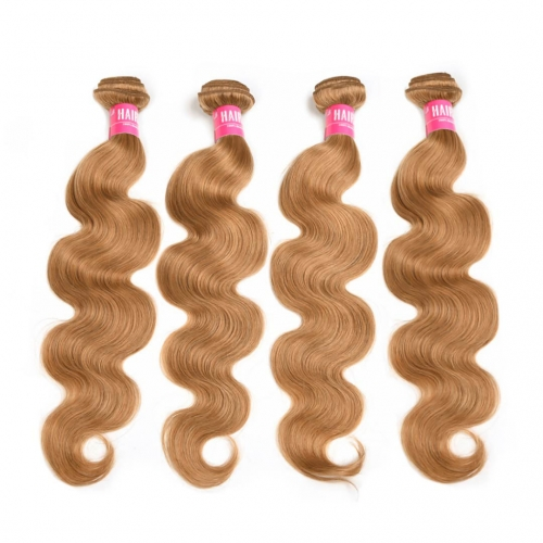 Honey Blonde Remy Hair Weave 4 Bundles Body Wave Thick HAIRCC Hair