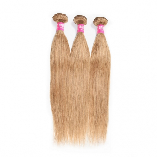 Silky Straight Honey Blonde Hair Weave 3 Bundles Soft HAIRCC Remy Hair