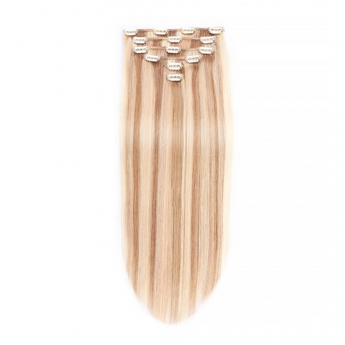14in 16in 18in 20in Clip In Human Hair Extensions Piano Color Cheap Evova Hair