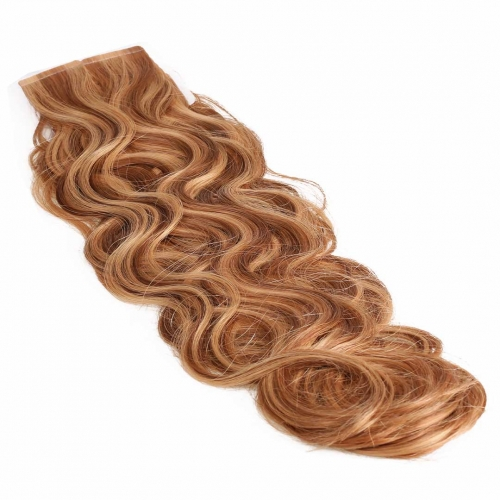 20in Remy Hair Tape In Extensions Body Wave Piano Color Good HAIRCC Hair
