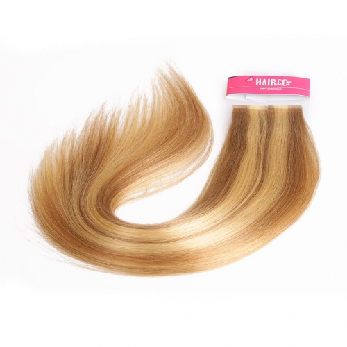 20in Remy Hair Tape In Extensions Piano Color Straight Good HAIRCC Hair