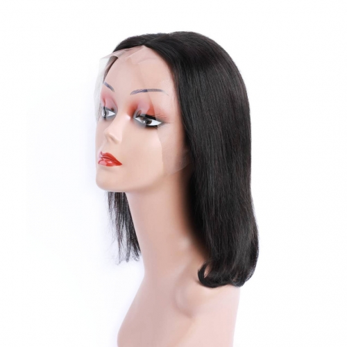 Lace Front Bob Wigs 13x4 Straight Human Hair Wigs Pre Plucked Cheap Evova Hair