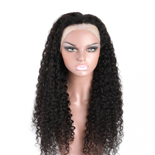 360 Lace Frontal Wigs Curly Human Hair African American Wigs Good Quality HAIRCC Hair